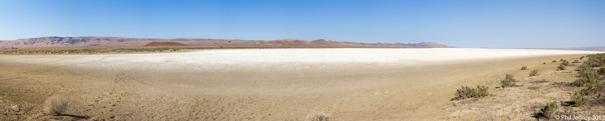 Panorama of Soda Lake at Carrizo Plain National Monument